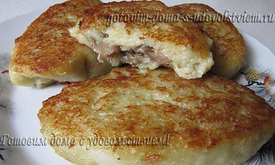 Драники картофельные с грибами рецепт