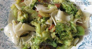 макароны с брокколи и сельдереем