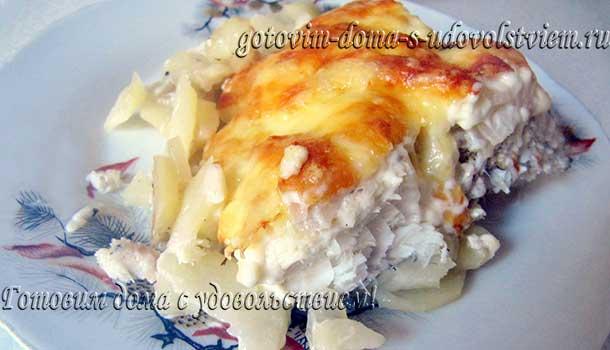 рыба с картофелем и сыром запечь в духовке