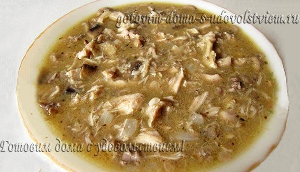 Рецепт фрикасе из курицы с грибами