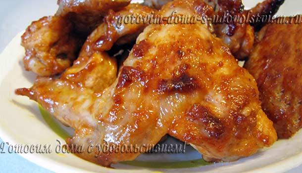 куриные крылышки в маринаде в духовке