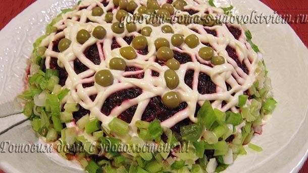 селедка под шубой с морской капустой