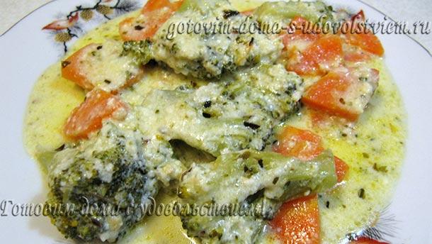 брокколи в сметанном соусе