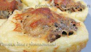 Праздничный гарнир из картофеля с грибами
