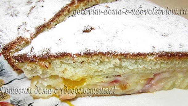 шарлотка в духовке с яблоками рецепт с мандаринами