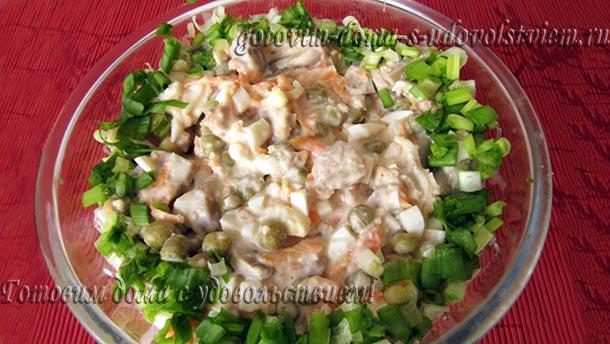 салат из печени трески консервированной рецепт