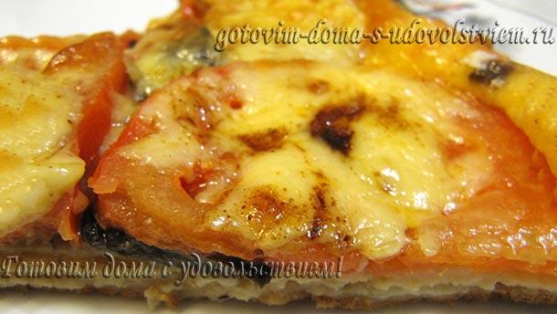 пицца на омлете