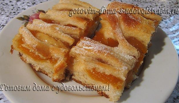 пирог с повидлом абрикосовым