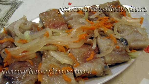 селедка с морковью и луком