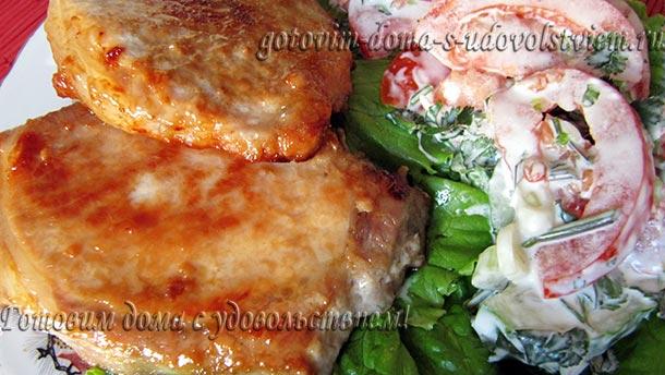 вкусная жареная свинина на сковороде