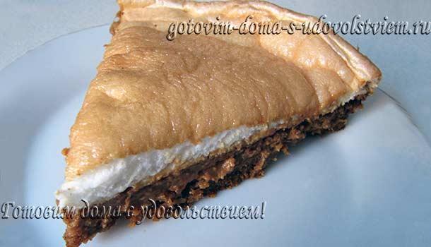 Пирог со сгущенкой на скорую руку