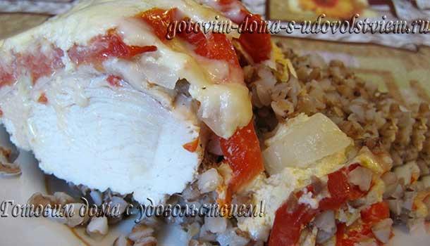 курица с гречкой в микроволновке