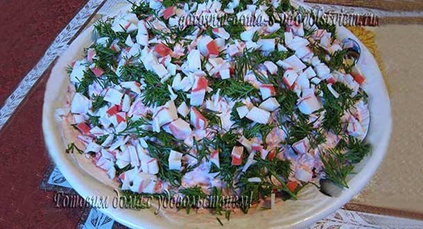 салат морское дно