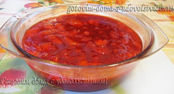 рецепт приготовления абрикосового варенья с красной смородиной