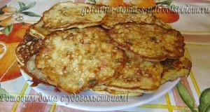 оладьи из кабачков с сыром и творогом