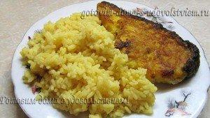 акула стейк с рисом