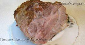 свинина в горчице запеченная в духовке