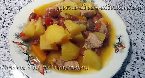 жаркое по домашнему из свинины с картошкой тушить