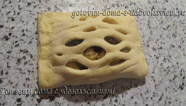 слойки с яблоками из слоеного дрожжевого теста рецепт с фото