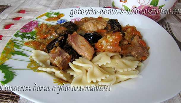 тушеное-мясо-с-черносливом-рецепт