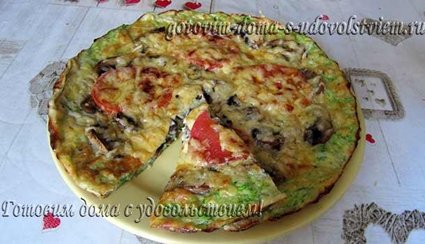 пицца-из-кабачков-с-грибами-в-духовке