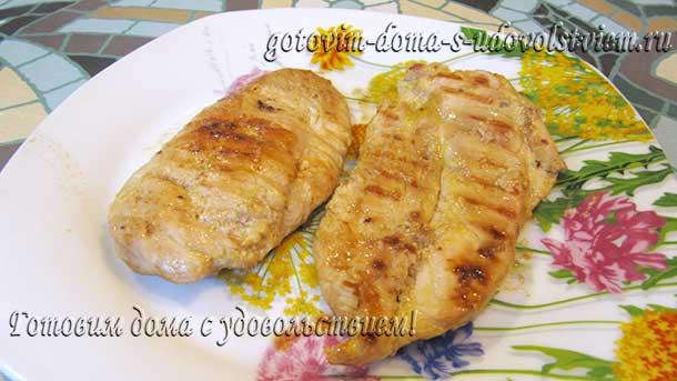 рецепт куриной грудки на сковороде гриль