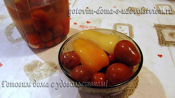помидоры маринованные на зиму очень вкусные сладкие