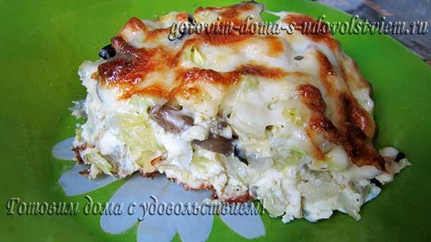 запеканка из кабачков в духовке рецепты с грибами