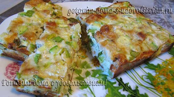 запеканка из кабачков в духовке рецепты с сухариками