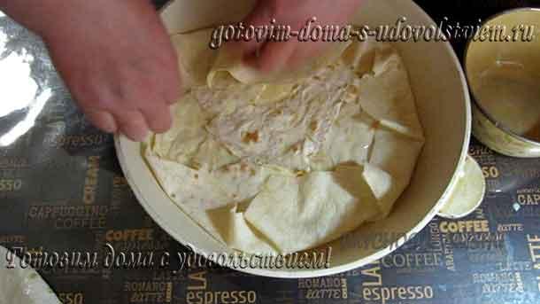 заворачиваем края пиццы
