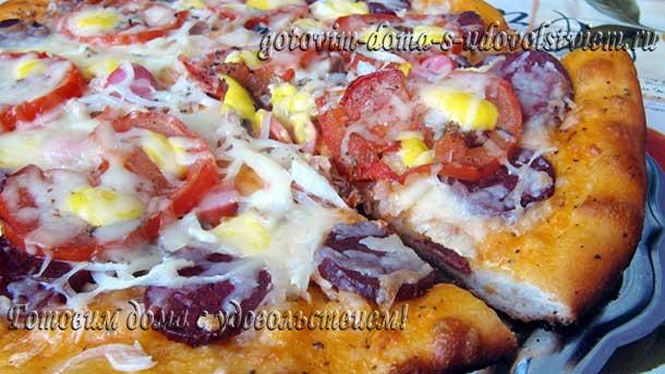 Рецепт пиццы в духовке на дрожжевом тесте