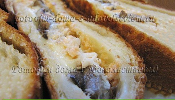 пирог из слоеного теста с форелью