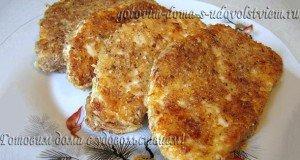 адыгейский сыр в панировке жареный
