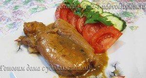 Свинина в апельсиново-соево-медовом соусе в духовке