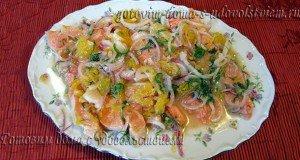 Севиче - маринованный лосось в соке цитрусовых