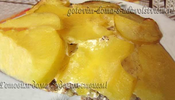 Запеканка из картофеля и фарша в духовке