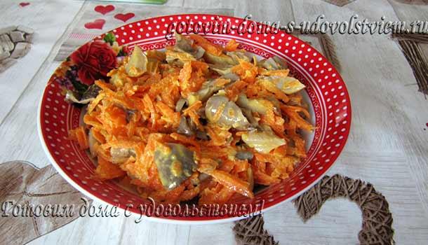 морковь-с-грибами-и-чесноком