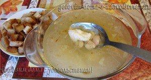 суп с клецками и фасолью