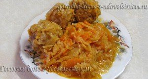 Мясные ежики с рисом - рецепт в капусте - вкусно и полезно