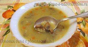 постный суп пюре с грибами