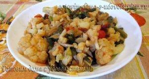 овощное рагу с цветной капустой и кабачком тушеная