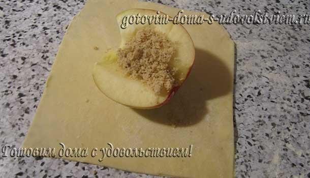 яблоки в слоеном тесте запеченные в духовке рецепт