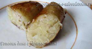Картофельная колбаса в кишке вкусно и экономно