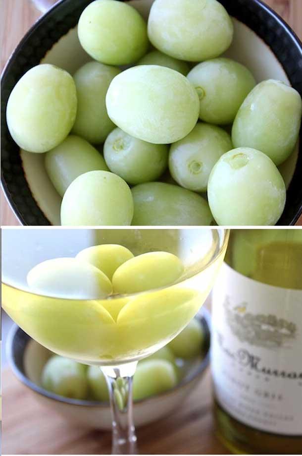 заморозить виноград