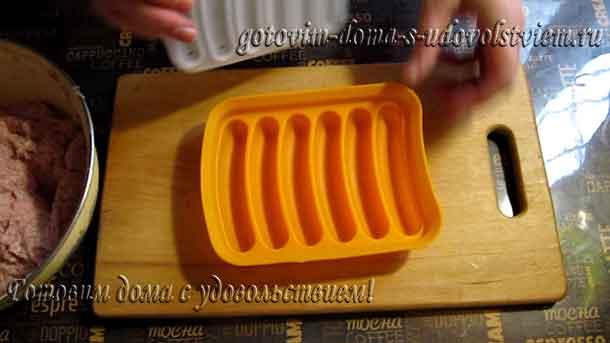 силиконовая форма для сосисок