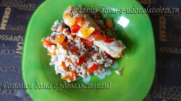 рецепт тушеной курицы с гречкой и рисом